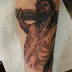 тату распятие, тату Иисус на кресте